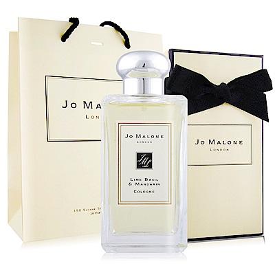 Jo Malone 青檸羅勒葉與柑橘香水100ml-附紙盒+提袋+緞帶-國際航空版