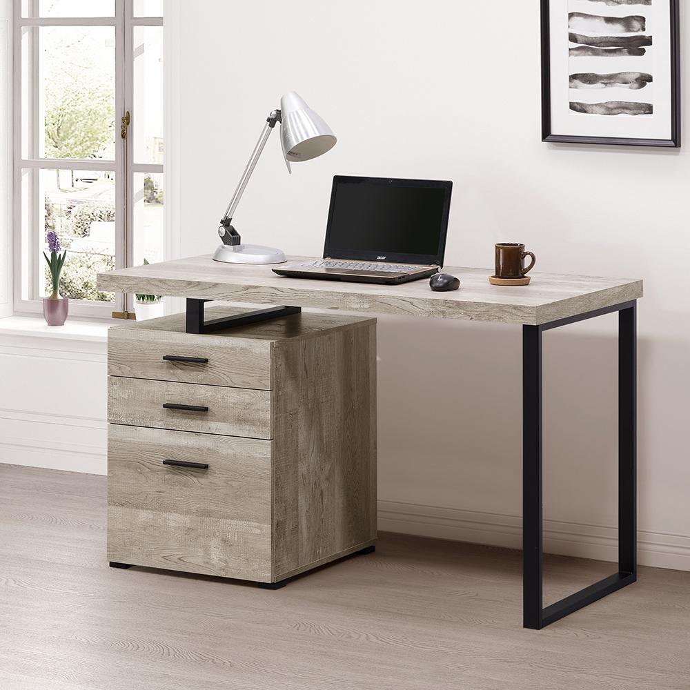 COMDESK 摩登電腦書桌DIY組合產品 仿古橡木色-寬120*深60*高76公分