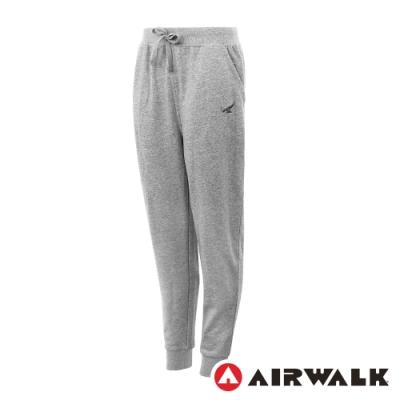 【AIRWALK】休閒棉質長褲-女-灰