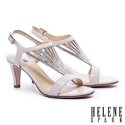 涼鞋 HELENE SPARK 性感閃耀晶鑽羊皮高跟涼鞋-米