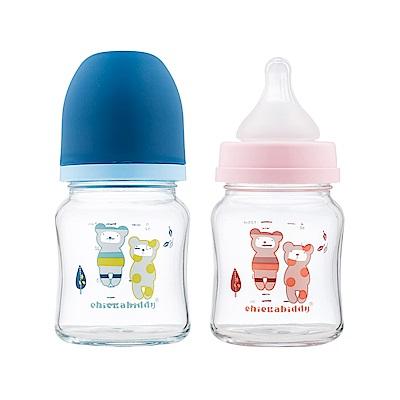 奇哥 親乳實感防脹氣玻璃奶瓶-寬口120ml