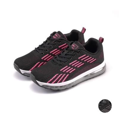 COMBAT艾樂跑女鞋-飛織運動鞋-黑桃/黑灰(22571)
