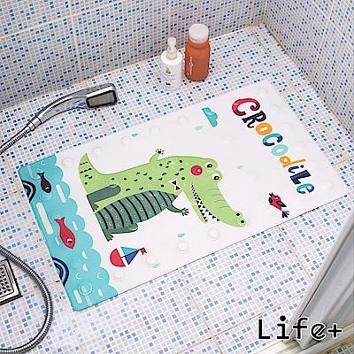 Life Plus 悠然時光浴室吸盤防滑地墊/腳踏墊 (鱷魚)