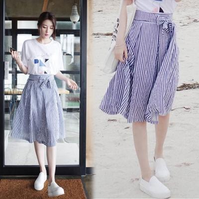 【韓國K.W.】(預購)舒適主打線條套裝裙-1色