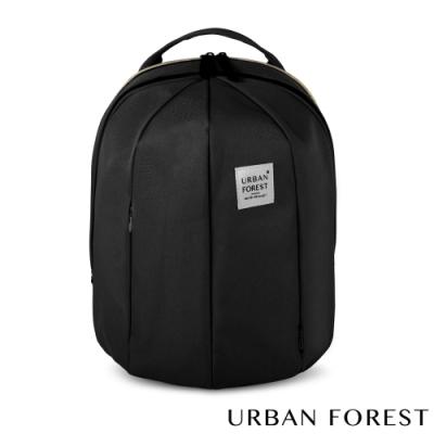 URBAN FOREST都市之森 甲蟲-可擴充後背包/雙肩包 (L號) 暗夜黑