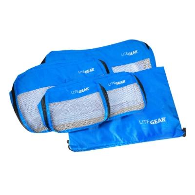 Lite Gear - 衣物收納袋五件組 - 藍