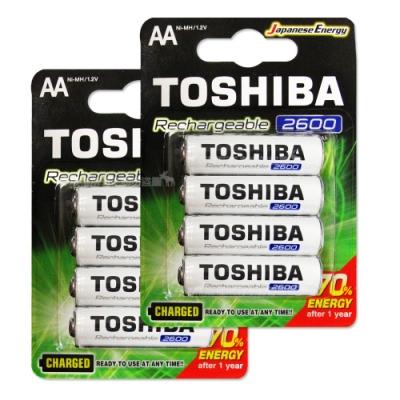 TOSHIBA東芝3號低自放電鎳氫充電電池2600mAh(8顆入)送電池盒