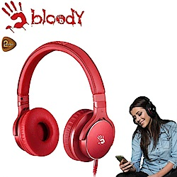 【A4 bloody】雙震膜質音樂耳機 - M510-RED(紅色)