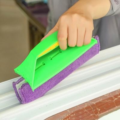 【Cap】魔布縫隙除塵窗戶刷(含2塊清潔魔布)