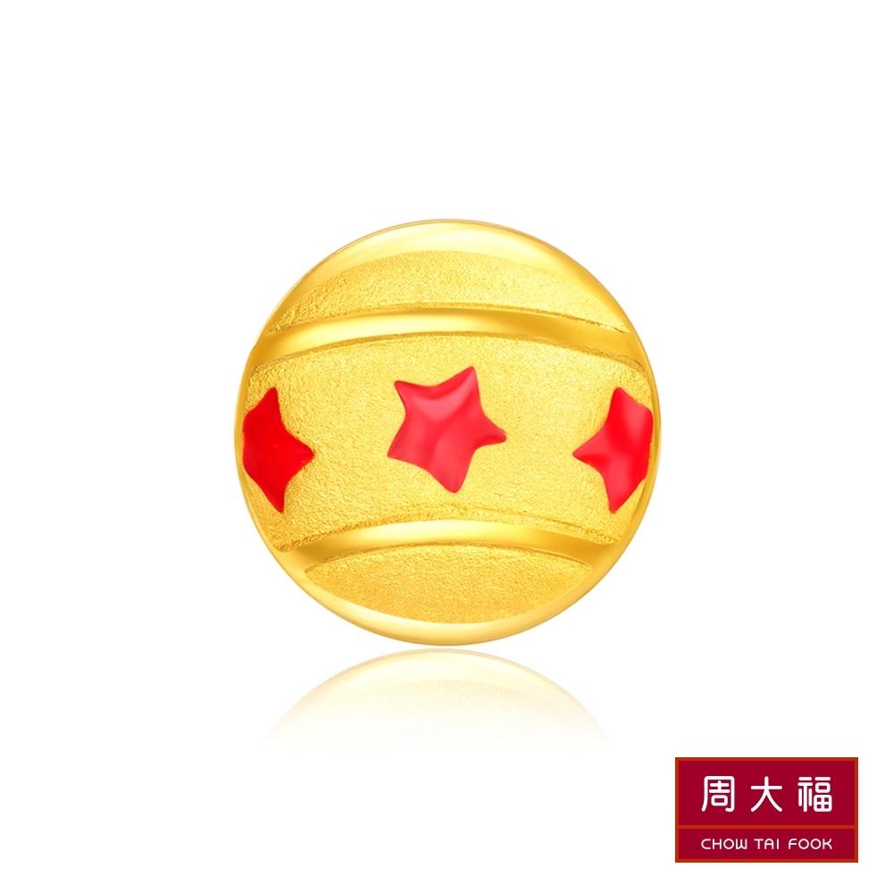 周大福 經典迪士尼系列 小飛象馬戲團球黃金耳環(單耳)