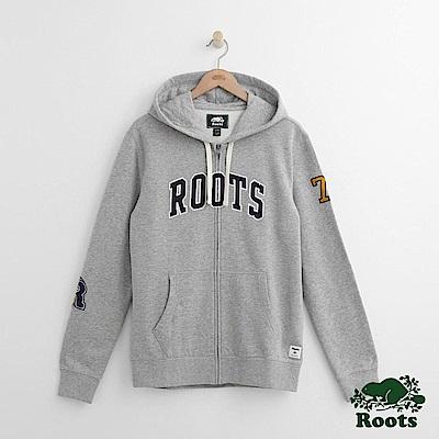Roots 男裝-貼片連帽外套-灰色