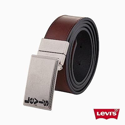 Levis 皮帶 男款 時尚針扣 雙面用皮帶