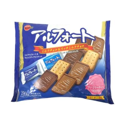 Bourbon北日本 帆船巧克力餅乾-家庭包(199g)