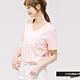 H:CONNECT 韓國品牌 女裝 -英文標語V領T-shirt - 粉 product thumbnail 1