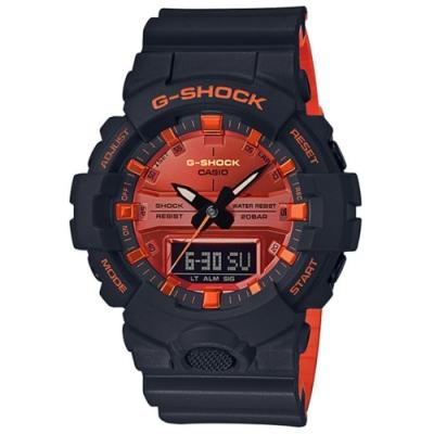 G-SHOCK 時尚豔陽雙色風格雙顯錶-(GA-800BR-1A)/54.1mm