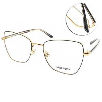 MOLSION 光學眼鏡 Angelababy代言 黑-金 # MJ7079 B12