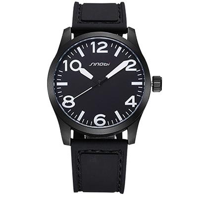 Watch-123 大數字品味設計皮革手錶