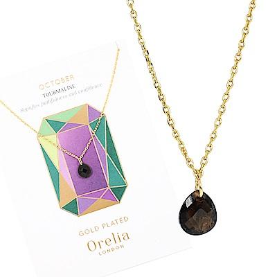 Orelia英國品牌 十月電氣石誕生石金色項鍊