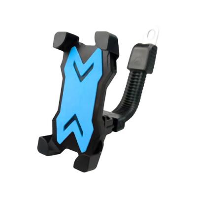 黑金剛機車電動車自行車專用四爪固定手機支架變形系列-照後鏡款(MT-901)