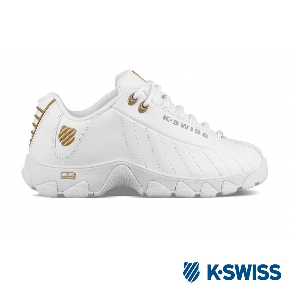 K-SWISS ST329 CMF老爹鞋-女-白/金