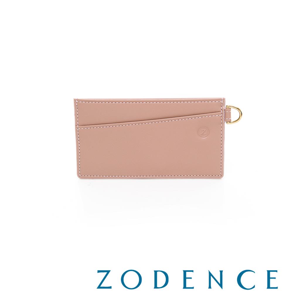 ZODENCE COMBO系列進口牛皮卡片夾 粉色
