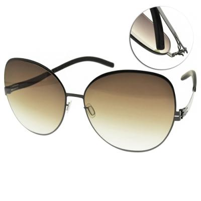 ic!berlin 太陽眼鏡 薄鋼貓眼框款/槍黑-漸層棕鏡片 #VIRGINA P. GUN METAL