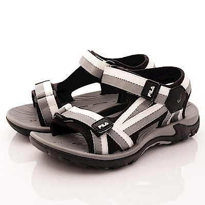 FILA頂級童鞋 織帶運動涼鞋款 FO31R-401黑灰(中大童段)C