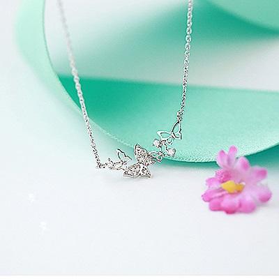 Hera 赫拉 個性造型925純銀項鍊/鎖骨鍊-蝴蝶款