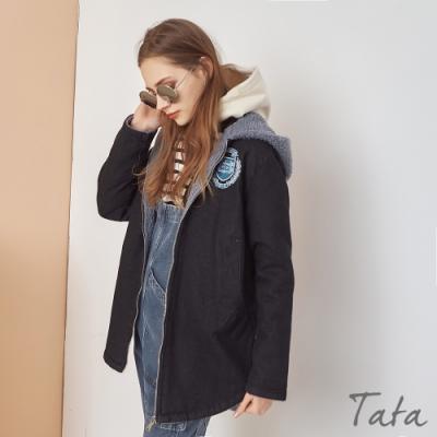 後YALE刺繡羊羔毛內裡連帽外套 TATA-(M/L)