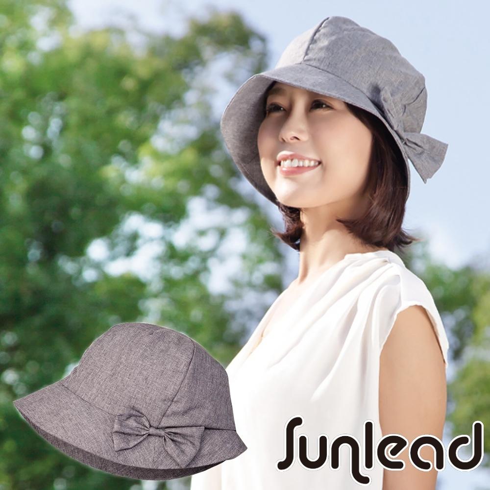 Sunlead 小顏護髮款。日系防曬透氣深圓頂遮陽帽 (銀灰色)