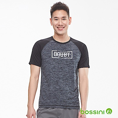 bossini男裝-ZtayDry快乾圓領短袖T恤01黑