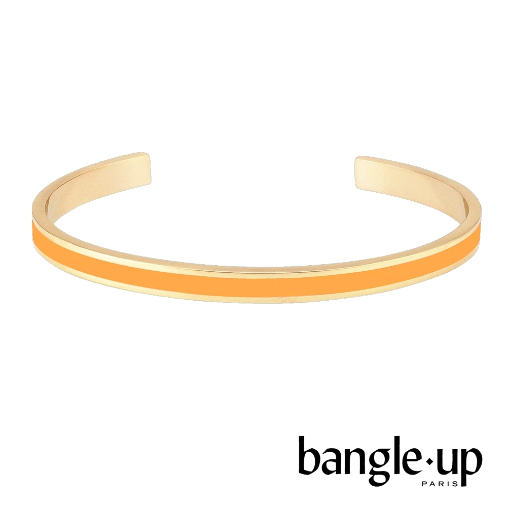 BANGLE UP 復古經典琺瑯鍍金開口手環 -芥末黃