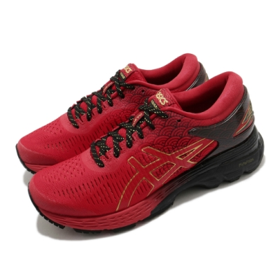 Asics 慢跑鞋 Gel Kayano 25 TOKYO 女鞋 亞瑟士 東京 馬拉松 高支撐 回彈 亞瑟膠 紅黑 1012A548600