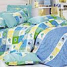 開心花園 柔絲絨雙人四件式兩用被床包組