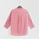 Hang Ten - 女裝 - 小立領經典直條紋襯衫 - 紅