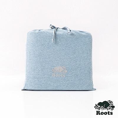 ROOTS有機棉雙人床包-藍