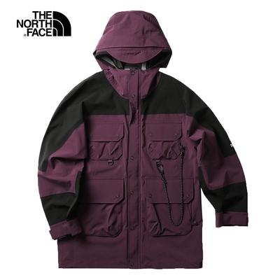 The North Face北面UE男款紫色防水透氣連帽衝鋒衣 5JTONXE