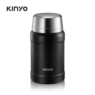 KINYO 316不鏽鋼真空燜燒罐(黑)KIM48B