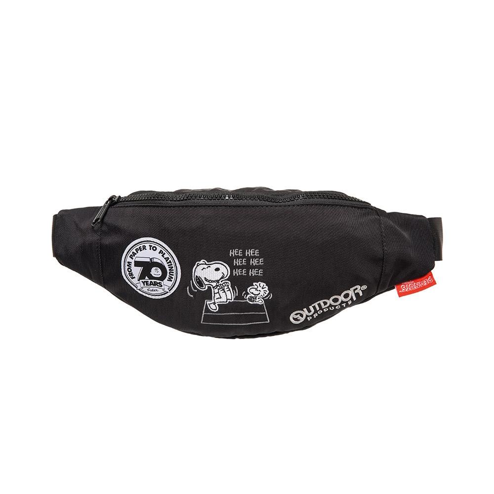 【OUTDOOR】SNOOPY聯名款70週年腰包-黑色 ODP19C03BK