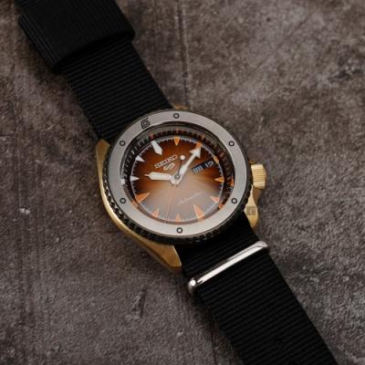 SEIKO 精工 5 Sports 機械錶 (橘面) 錶帶自選顏色