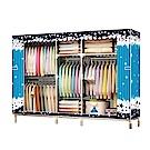 組合式衣櫃/衣櫥 2.1米2.5管徑寬(窗簾款)【Vencedor】
