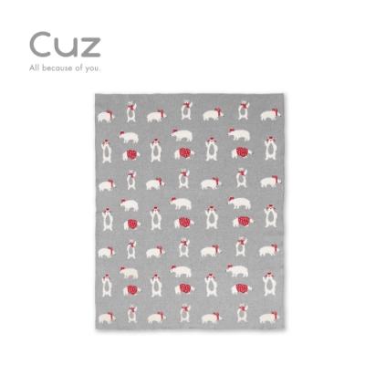 【Cuz】北極熊的紅毛衣(織毯)