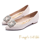 Pineapple Outfitter璀璨名媛尖頭低跟鞋-粉紅色