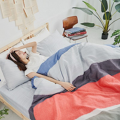 BUHO 100%TENCEL純天絲舖棉兩用被床包組-雙人加大(迷城隱宿)