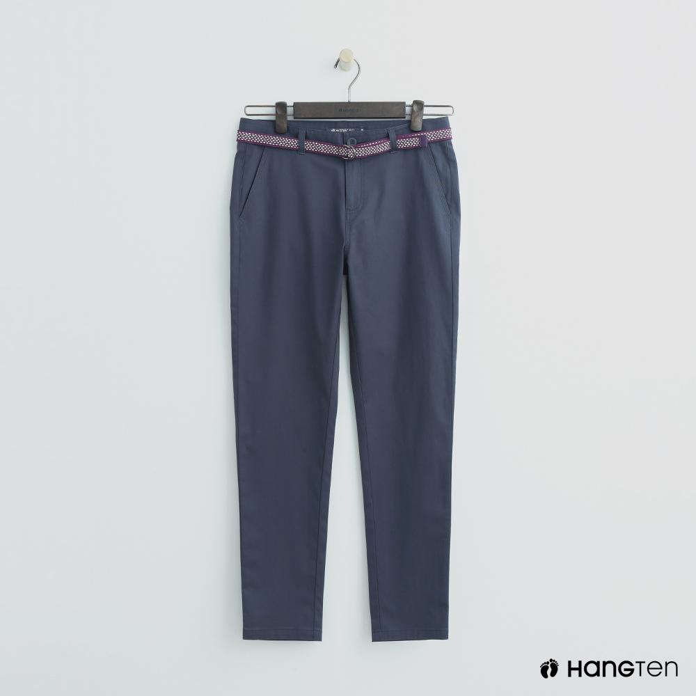 Hang Ten - 女裝 - 腰帶造型修身長褲 - 藍
