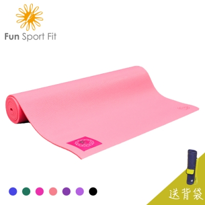 FunSport yoga-小秘境修練瑜珈墊-(6mm)-送吉尼亞瑜珈背袋 (PER環保材質)
