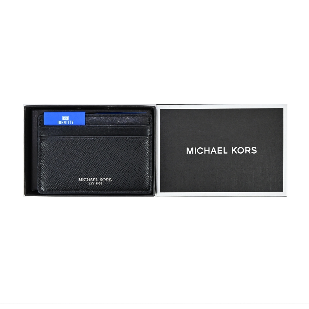 MK MICHAEL KORS HARRISON防刮名片夾禮盒組-黑