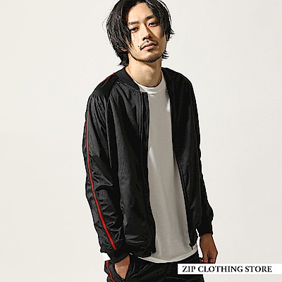 運動風絲絨夾克( 3 色) ZIP日本男裝