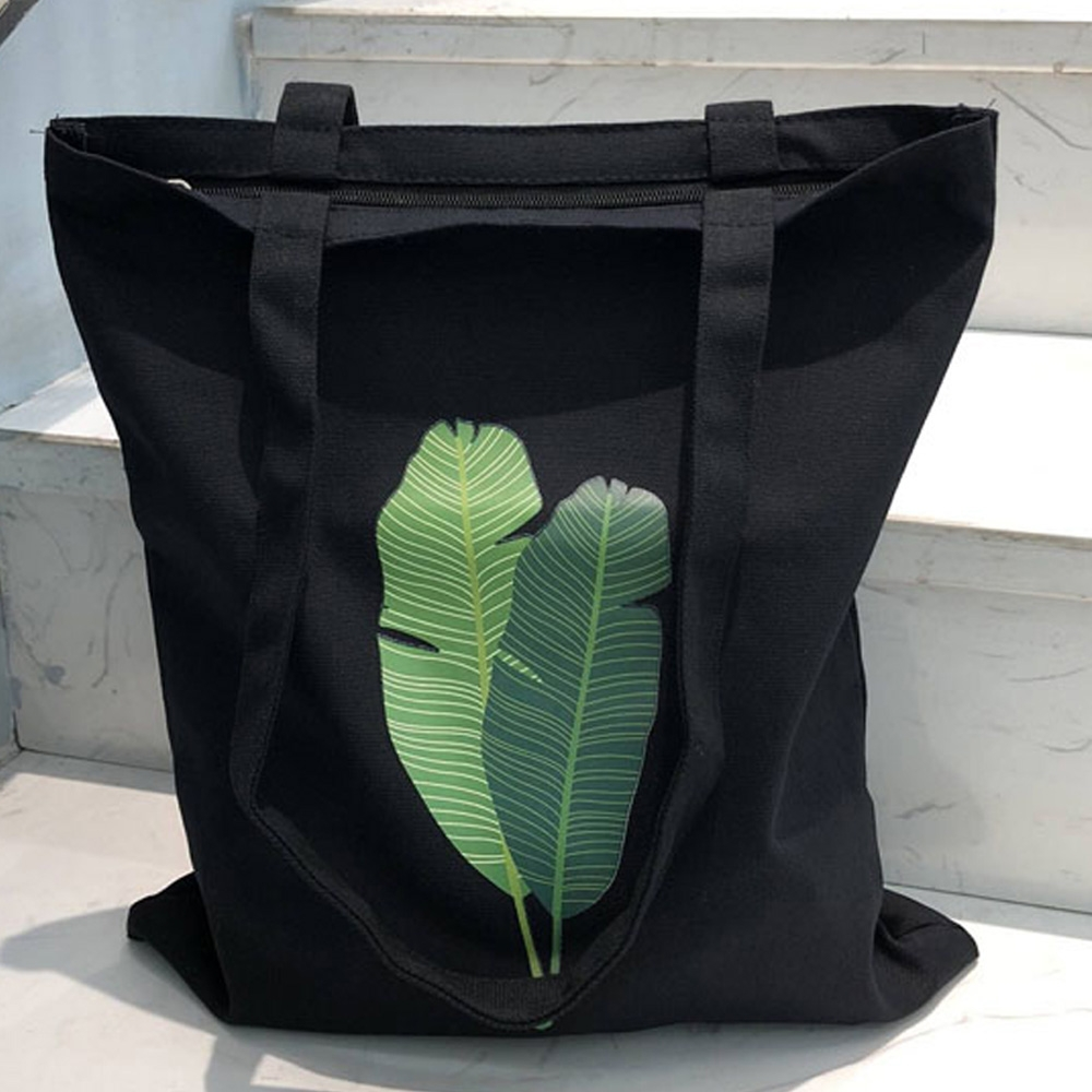【素包包】氣質綠芭蕉葉大容量拉鍊側背袋(2色任選)