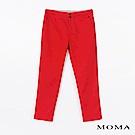 MOMA修身錦棉窄管褲